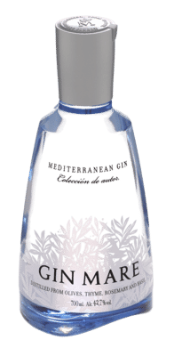 Bottle image with ice background