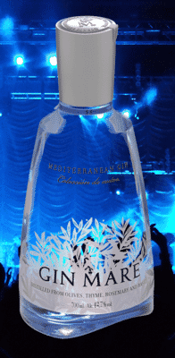 Bottle with party background