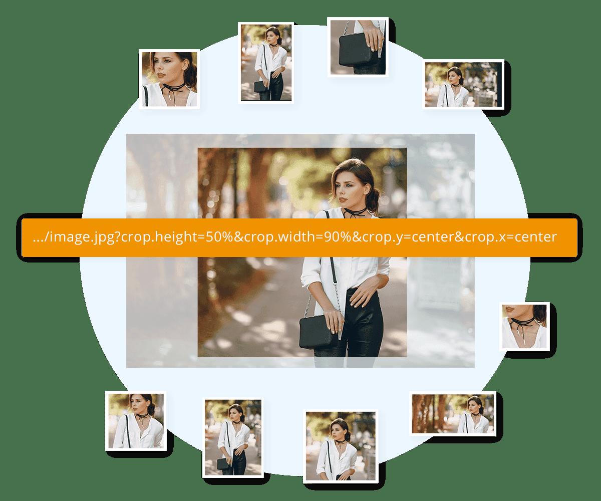 image resizing with Master images