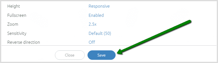 3D spin save button