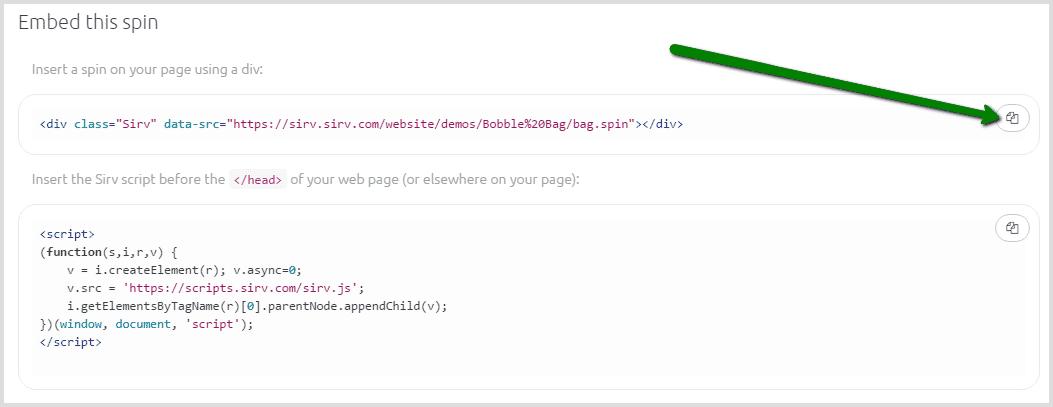 Embed 3D model HTML