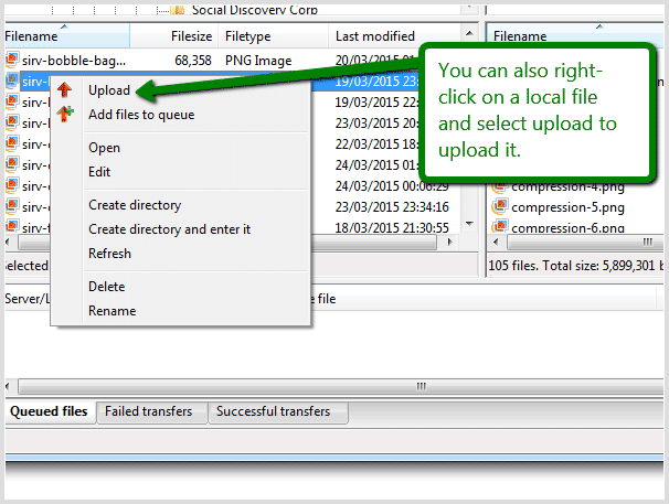 Upload images with FileZilla