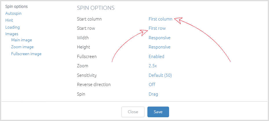 Sirv Spin documentation - Add 360-degree product spins to your website